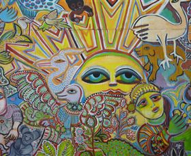 The Painting of Life by Mirka Mora - Australia Accommodation