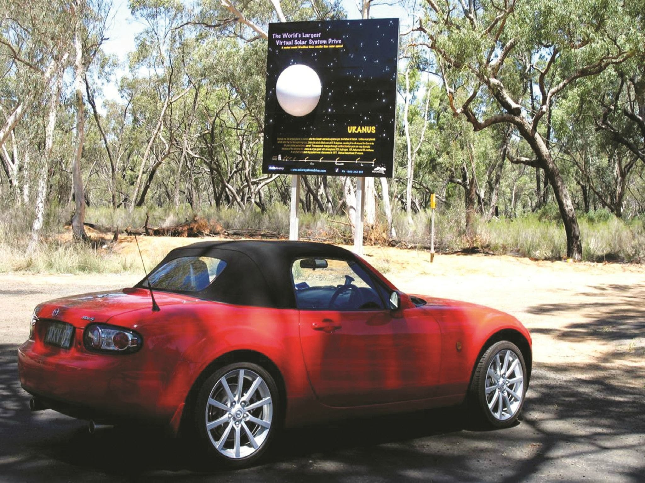 Worlds Largest Virtual Solar System Drive - Australia Accommodation