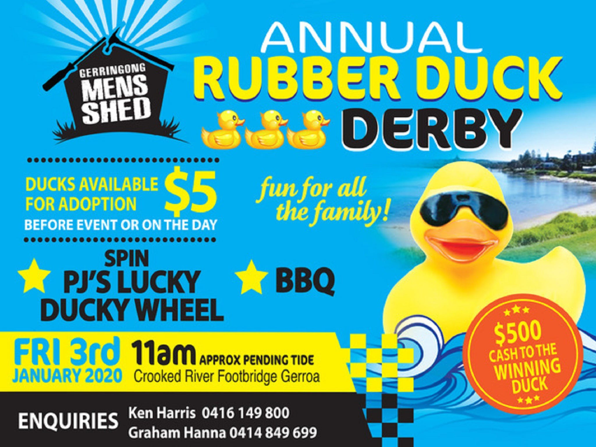 Gerringong Mens Shed Annual Duck Derby - Australia Accommodation